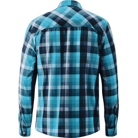 Maier Sports Lorensis T-shirt Manches longues Homme, blue check